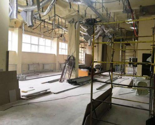 демонтаж инженерных конструкций в офисе